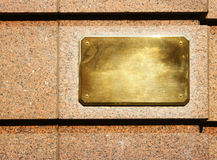 Copper signboard Royalty Free Stock Photography