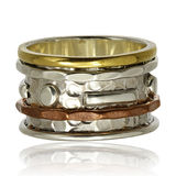 Copper and silver ring stock photography
