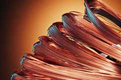 Copper skeins Royalty Free Stock Photo