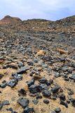 Copper Slag. Ancient Copper slag sties Khirbet en-Nahas, Jordan Royalty Free Stock Image