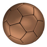 Copper soccer ball, Isolated on white background Royalty Free Stock Image