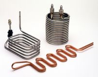 Copper and Stainless Steel Coils Royalty Free Stock Photo