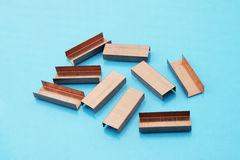 Copper Staples Royalty Free Stock Photography