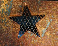 Copper Star Stock Image