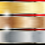 Copper, Steel And Gold Backgrounds Stock Photography