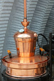 Copper still. Apparatus for distilling alcohol royalty free stock images