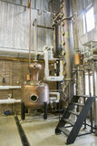 Copper still in craft bourbon distillery royalty free stock images