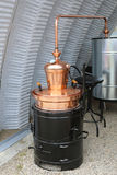 Copper Still Pot. Copper Still Apparatus for Distilling Alcohol royalty free stock images