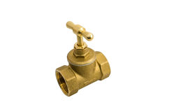 Copper stop valve Stock Images
