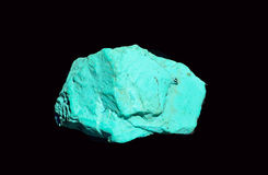 Copper sulfate. Copper sulfate isolated in black bacground Stock Image