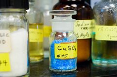 Copper Sulfate and Other Chemicals Royalty Free Stock Photo