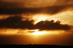 Copper Sun Glow. Deep copper sky glow Stock Images