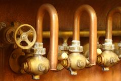 Copper taps Royalty Free Stock Photos
