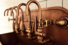 Copper taps Royalty Free Stock Photography