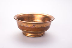 Copper tea cup. For mongolian salt tea Royalty Free Stock Photo