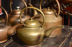 Copper teapot Stock Photo