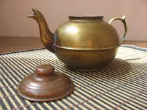 Copper teapot Royalty Free Stock Photos