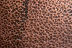 Copper texture. Copper plate with bulges Stock Photography