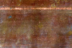 Copper texture. Flat old copper sheet texture Royalty Free Stock Photos