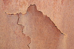 Copper Texture. Layer of copper with incision Royalty Free Stock Photos