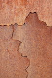 Copper Texture. Layer of copper with incision Stock Photos