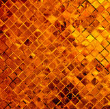 Copper tile background. Stock Photos