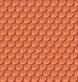 Copper tiles roof seamless pattern. Royalty Free Stock Images