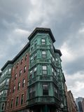 North End - Boston, Massachusetts. Copper Tripartite, Bay Windows in the North End neighborhood of Boston, Massachusetts royalty free stock images
