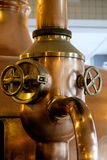 Copper tube in brewery. Old copper tube in brewery Royalty Free Stock Image