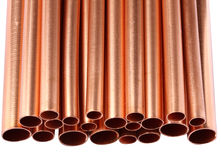Copper Tube Group Royalty Free Stock Photos