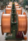 Copper tubes for bending machine. Stock Photos