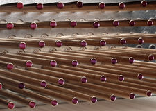 Copper Tubing. Used in the industrial refrigeration industry Stock Images