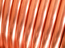 Copper tubing. Coil for industrial use, Italy Royalty Free Stock Photos