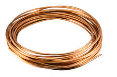 Copper Tubing isolate. On white background Stock Photography