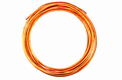 Copper Tubing on white background Stock Photography