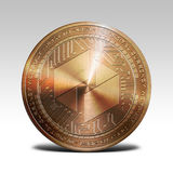 Copper ubiq coin isolated on white background 3d rendering. Illustration Stock Photography