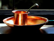 Copper utensils Royalty Free Stock Images