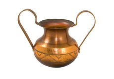 Copper vase. With great ears Royalty Free Stock Image