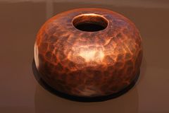 Copper vase Stock Images