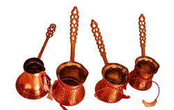 Copper vessels. Hand made copper vessels Royalty Free Stock Photo