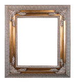 Copper vintage frame. Isolated on white background Stock Images