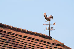 Copper Weathercock on the Rooftop Stock Photos