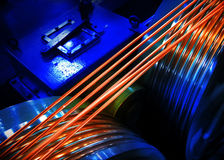 Copper Wire. On the studio lighting setting Royalty Free Stock Photography