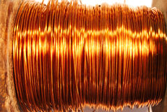 Copper wire. On the coil Stock Photos
