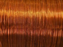 Copper wire. Can use as background Royalty Free Stock Images