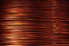 Copper wire. A roll of copper wire Stock Image