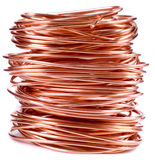 Copper wire. Isolated on white Royalty Free Stock Photo