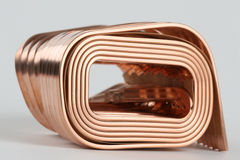 Copper wire. Close up of copper wire Royalty Free Stock Photos