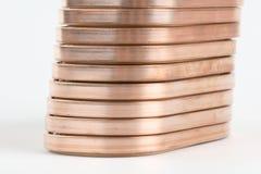 Copper wire. Close up of copper wire Stock Photo