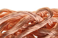 Copper wire in abstract form Stock Photo